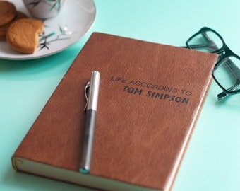 Personalized Leather Journal - Personalised Leather Journal - Personalized gift for Dad, Boyfriend - Custom notebook - Personalized notbeook