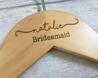 Bridal hanger, laser engraved hanger, personalised hanger, wedding hanger, bride hanger