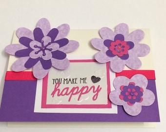 OOAK Handmade Greetings card free Postage