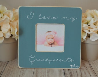 Grandparents picture frame, custom picture frame, grandma gift, mother's day gift, personalized picture frame, kid's picture frame
