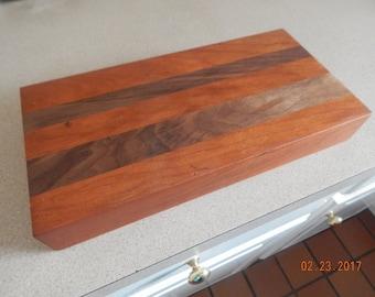 Small solid cherry/walnut chopping block
