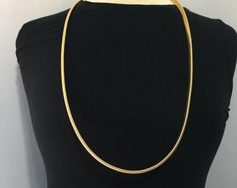 Gold Tone Necklace - Retro Necklace - Long Necklace