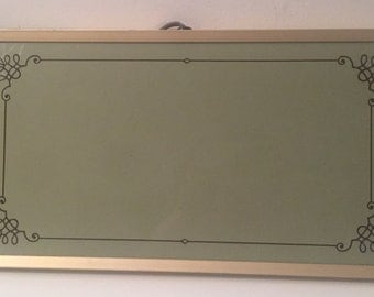 Vintage Cornwall Electric Tray hot plate griddle warming tray model 1418 made in the USA avocado green gold trim wooden handles
