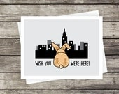 Wish You Were Here! Greeting Card   Blank Card, Travel Card, NYC Skyline, Missing You, Long Distance Relationship