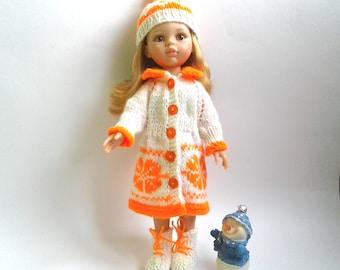 Сlothes for dolls Paola Reina ,  Corolle Les Cheries , Antonio Juan Munecas.Set - coat, hat, boots
