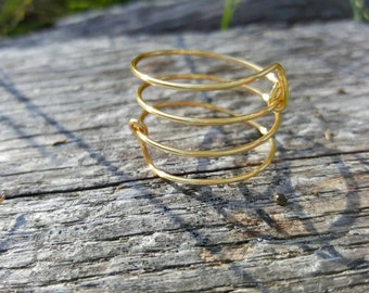 Gold wire wrap around ring size 8.5