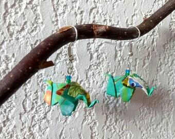 Origami elephant earrings