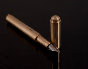 Fountain pen,brass, hand crafted, custom made, turned