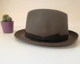 Light green fur hat. Palazzo styled by Borsalino. Italian vintage hat