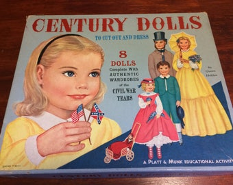 Vintage Paper Dolls from the Civil war years, eight dolls with authentic wardrobes, Civil war, Home and Living, Paper dolls,collectibles.