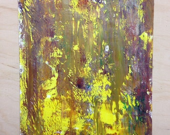 Unique abstract oil painting in Gerhard Richter style
