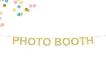 Photo Booth Glitter Banner | Photo Booth Sign | Wedding Decor | Photo Booth Decor | Wedding Reception | Wedding Photo Booth | Glitter Banner