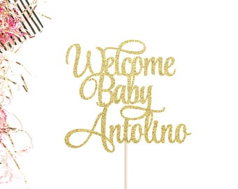 Welcome Baby Cake Topper | Baby Shower Cake Topper | Gender Reveal | Baby Girl Topper | Baby Boy Topper | Custom Baby Shower Cake Topper