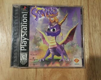 Original Spyro The Dragon Video Game for Sony PlayStation One - Spyro Ps1 - Tested and Complete