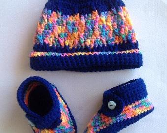 Hippie Baby Beanie & Shoe Set