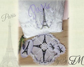 Big set  the Eiffel Tower / machine embroidery design