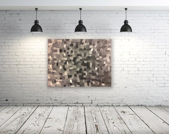 Grayscale textured acrylic palette knife painting
