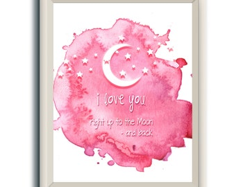 Nursery Wall Art | Girls Room Art | Nursery Artwork | Pink Nursery Print | Art for Childs Room | Nursery Poster | Nursery Prints for Girls