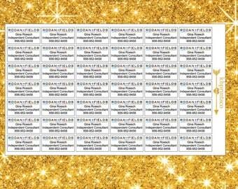 42 Rectangular Custom Rodan and Fields Product Labels