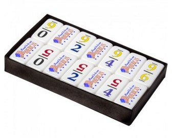 Customizable Professional Size Numeral 6 Dominoes