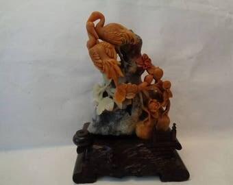 Rare Shou Shan stone sculpture