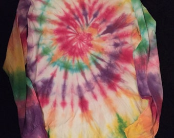 Rainbow Tie Dye Longsleeve Shirt