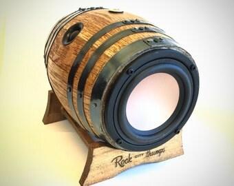 Bluetooth Whiskey Barrel Boombox
