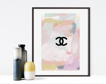 Abstract Chanel CC logo - print - poster - wall art - bedroom - coco chanel - designer