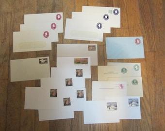 vintage postal envelopes,vintage post cards,stamp collector,vintage stamps,vintage postage,embossed postage envelopes,unused vintage stamps
