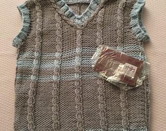 Vests, Gr. 86, unisex, Merino Wool, Christmas gift, handmade