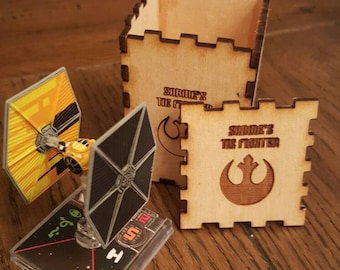 X-Wing Minature Game Ship Storage Box for Sabine's Tie Fighter