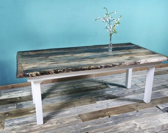 Timber table in Cottage-style FRIDA 200 x 100 cm