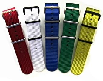 NATO G10 ® Solid EDGE Heavy Ballistic Nylon Watchband Military watchband watchstrap NATO Strap natoband