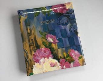 Recipe Card Book - Vintage Recipe Cards - Recipe Storage - Kitchen Organization - 1990s Recipe Card Holder - Vintage Kitchen Decor