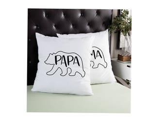 Mama Bear Baby Bear Pillow | Papa Bear Pillow | Mom | Baby | Dad | Gift | Home Decor | Mothers Day | family