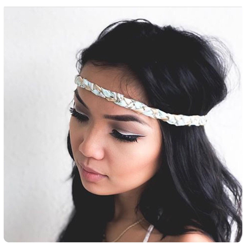 Mint And Gold First Birthday Headband Gold Headband Boho