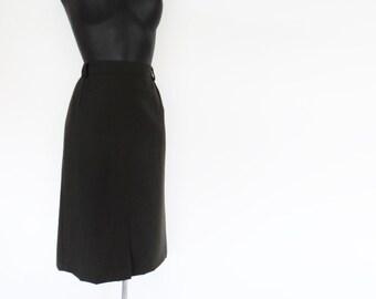 Free Shipping* 1980s Green Pencil Skirt, Vintage Clothing, Skirt, Wool, Green Skirt, Pinup, Secretary, Pencil Skirt
