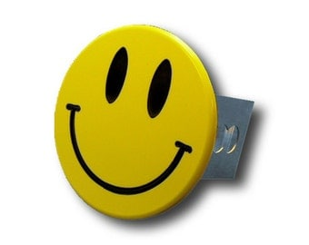 Smiley Face Chrome Trailer Hitch Plug
