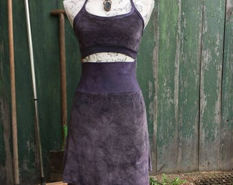 lunar dress in dark violet size s