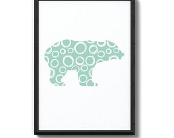 Bear Print // Wall Art // Digital Download