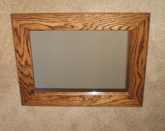 Mirror-New- Enhance your room Decor. Red Oak with a walnut transparent stain. Hand Crafted by seller.