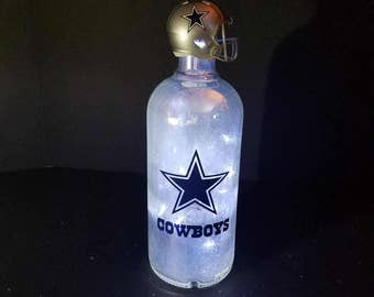 Dallas Cowboys bottle lamp, Dallas Cowboys lighted bottle