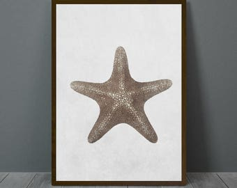 Starfish Wall Art, Starfish Print, Starfish Wall Decor, Digital Poster, Animal Print, Printable Wall Art
