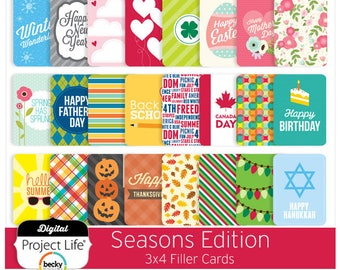 "Project Life ""Seasons"" Edition - 3x4 Cards"