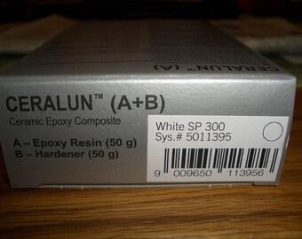 SALE 25% - Swarovski CeralunTM - white - 2 x 50gr