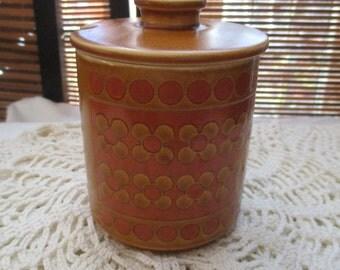 Retro Vintage Hornsea England Saffron Jam Pot with Lid (1976)