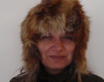 Hat,Fox Leather Hat,Soft Hat,Soft leather Hat,Stylish Hat,Fox Hat,Accessories,Winter Hat,Real Genuine Fur,Leather,Winter Hat