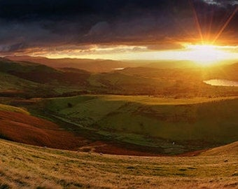 Skiddaw & Over Water from Longlands Fell  --  Landscape Photography by M J Turner