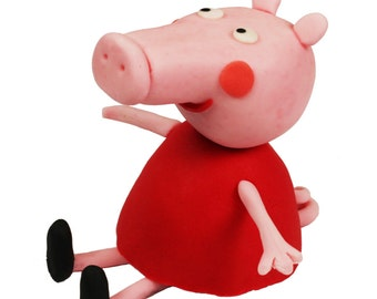 Edible Peppa Pig cake topper. Peppa, George, Rebecca Rabbit, Suzy Sheep, or any other character of Peppa Pig cartoon possible.