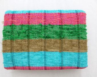 Handmade Hand woven Chindi Area Rugs Rectangular Carpet Durrie Recycled Bohemian Beach Garden Yoga Mat Indian Floor Kilim Counterpane I630